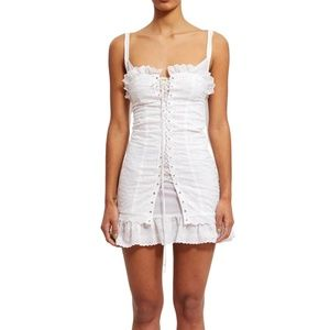 Dresses & Skirts - Eyelet Corset Style Dress Size L